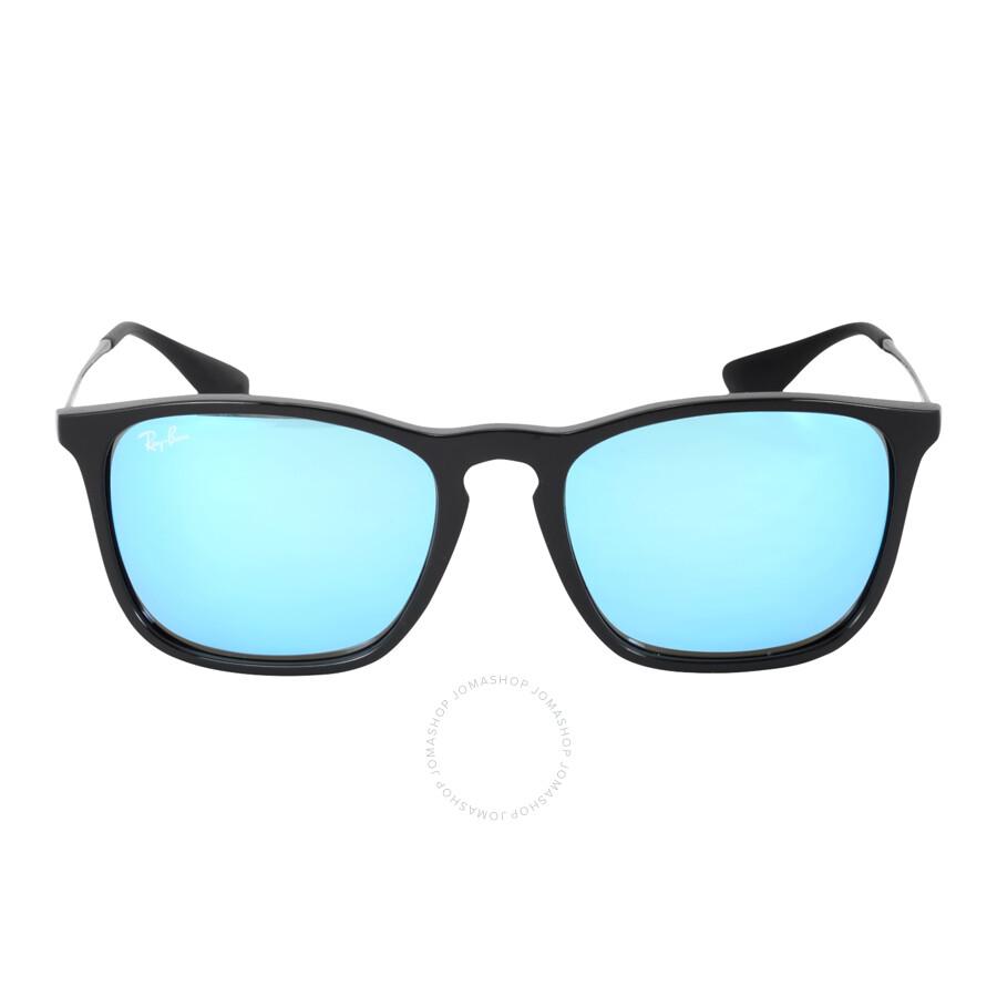Ray Ban Chris RB4187 60155 54 black / light green mirror blue TzZbCs
