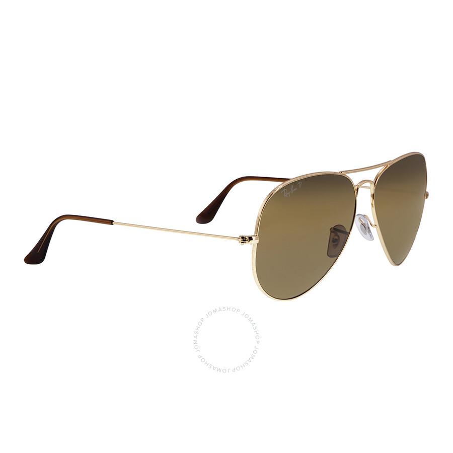 ... Ray-Ban Classic Aviator Sunglasses - Polarized Brown B-15 ...