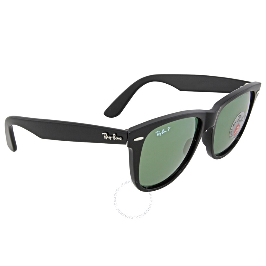 3af8a9eed37c2 ... where to buy ray ban classic wayfarer black frame polarized green lens  2140 901 58 4a7ce