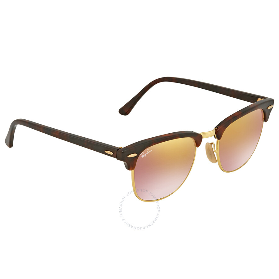 99086c08ed914 Ray-Ban Ray Ban Clubmaster Copper Gradient Flash Square Sunglasses RB3016  9907OE 49