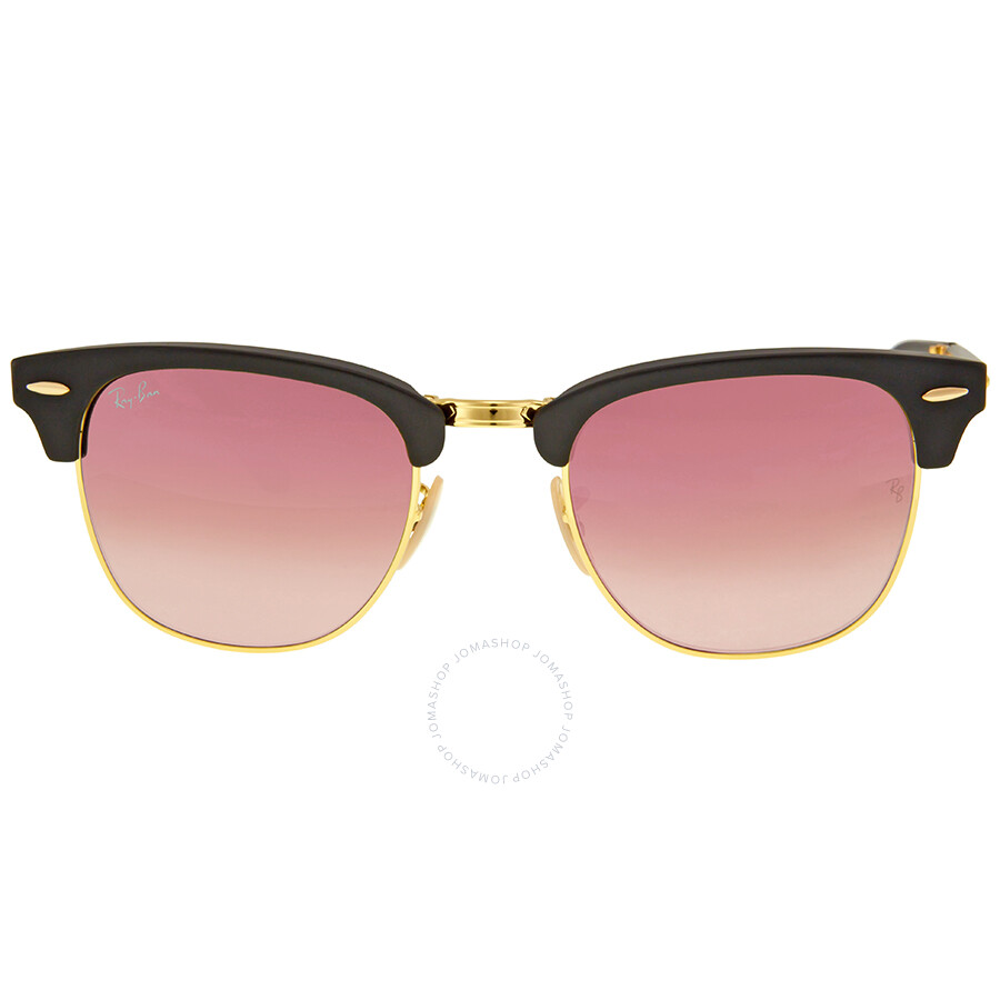 Ray Ban Rb3016 Clubmaster Sunglasses Mock Tortoise Arista Frame ...