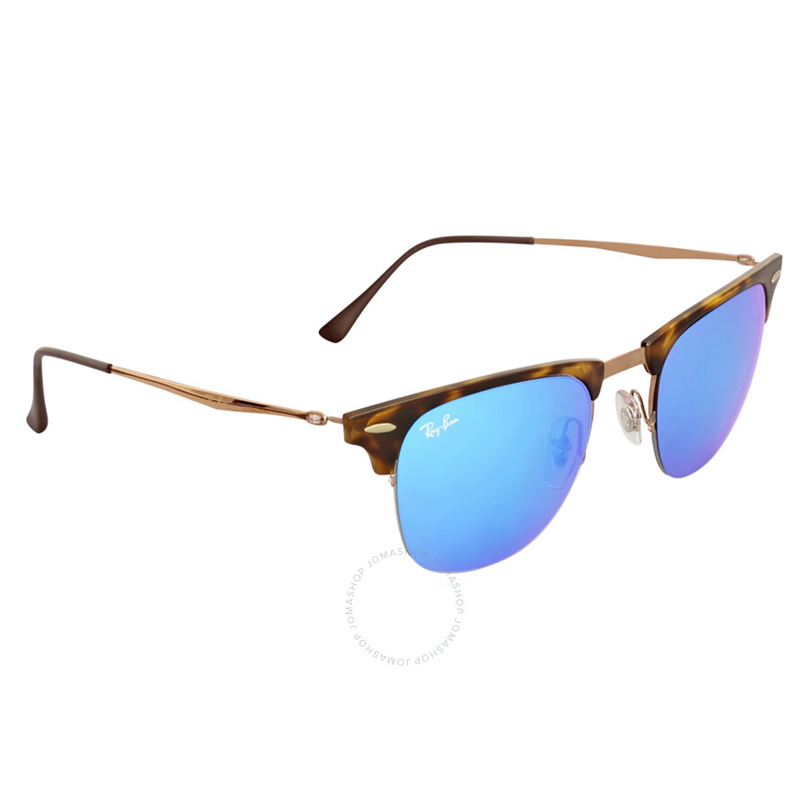 4d3b5592cb9 ... coupon code for ray ban clubmaster light ray 51mm blue mirror sunglasses  rb8056 175 55 51