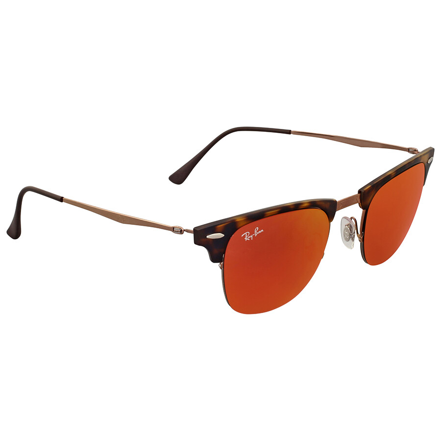 6eab5960d54 ... shop ray ban clubmaster light ray red mirror sunglasses 64430 f264f