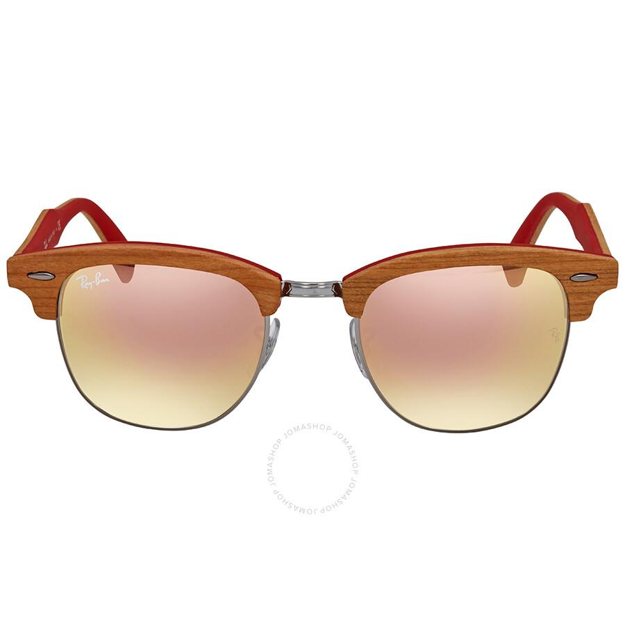 9e253f1e30 ... authentic ray ban clubmaster wood copper gradient flash square  sunglasses rb3016m 12197o 51 6f224 d0c9e