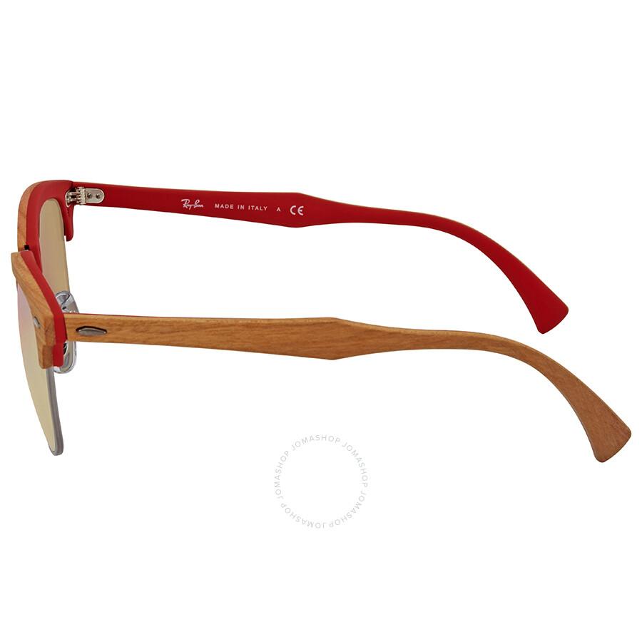 a194c55d87f68 ... authentic ray ban clubmaster wood copper gradient flash square  sunglasses rb3016m 12197o 51 31e9f b12b4