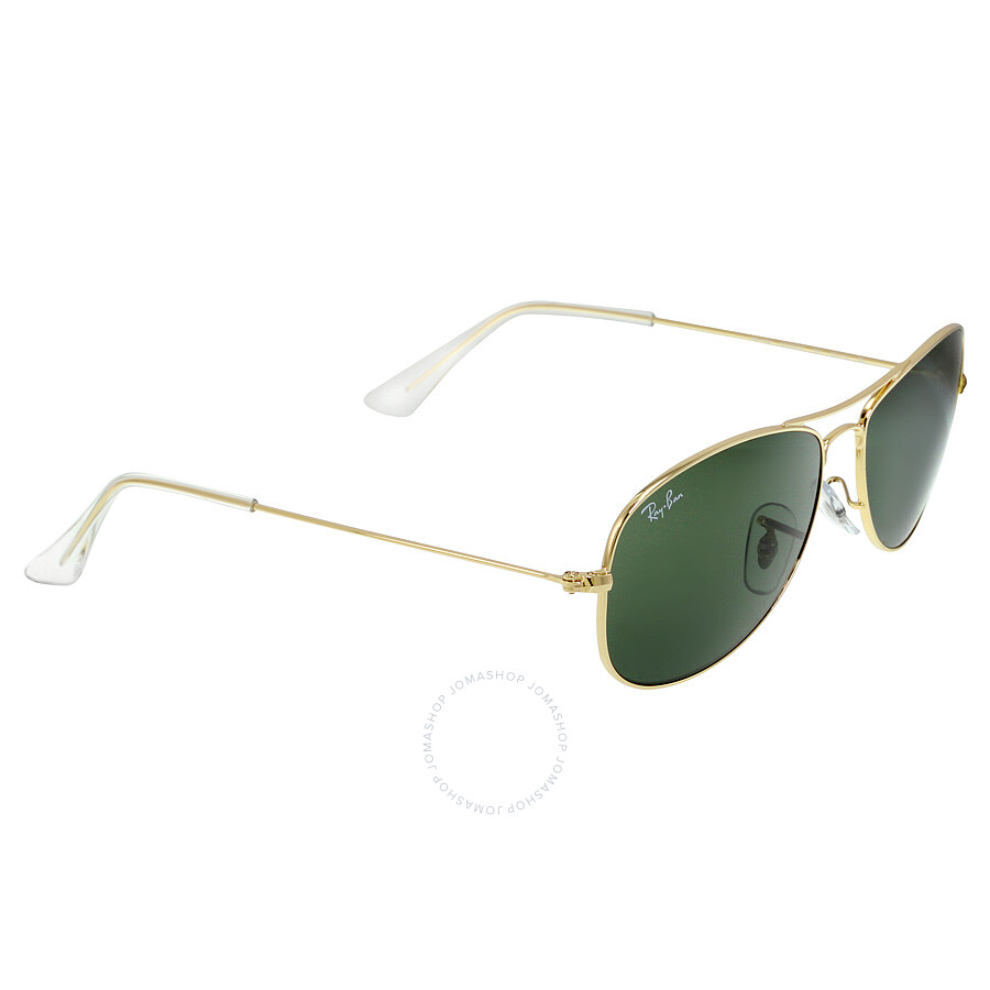 91fb9910fc9 spain ray ban cockpit 56 mm sunglasses gold green classic g 15 d2c28 215bb