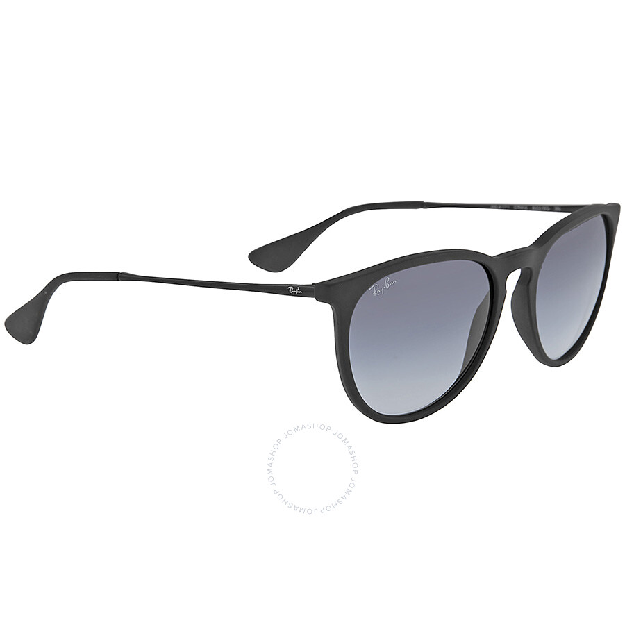 Ray-Ban Erika Rubberized Black Frame -Gray Gradient Lens 54mm Round ...