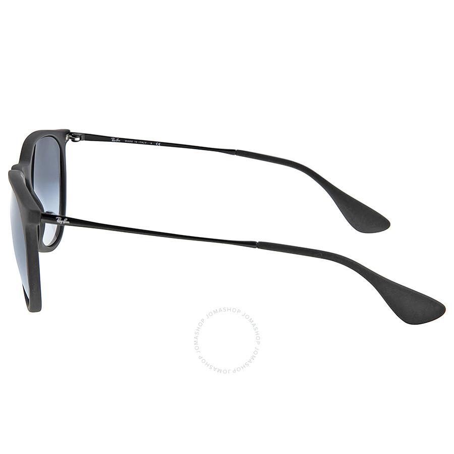 b7ffcb0b3b7 ... good ray ban erika rubberized black frame gray gradient lens 54mm round  ladies sunglasses rb4171 13742