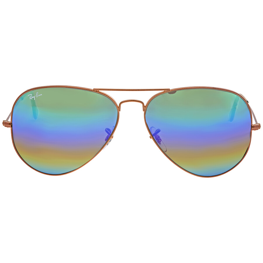 75bd5f9e924f3 Ray Ban Green Rainbow Flash Mens Sunglasses RB3025 9018C3 62