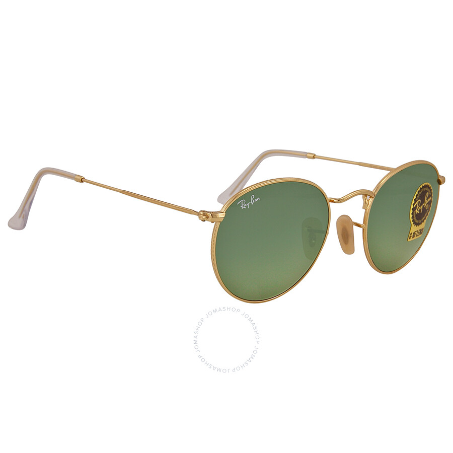 Ray Ban Gold Frames Green Lens 50 mm Sunglasses RB3447 001 50-21 ...