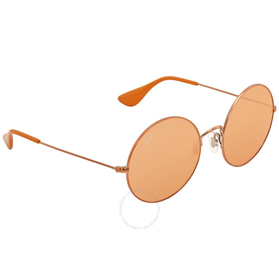 RAY BAN RAY-BAN Damen Sonnenbrille »Ja-jo RB3592«, rosa, 9035C6 - rosa/orange