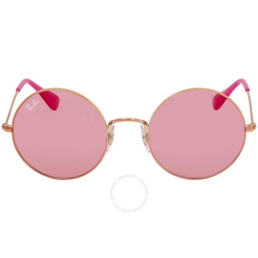0fd2477ffb Ray Ban Ja-jo Pink Classic Round Ladies Sunglasses RB3592 9035F6 50