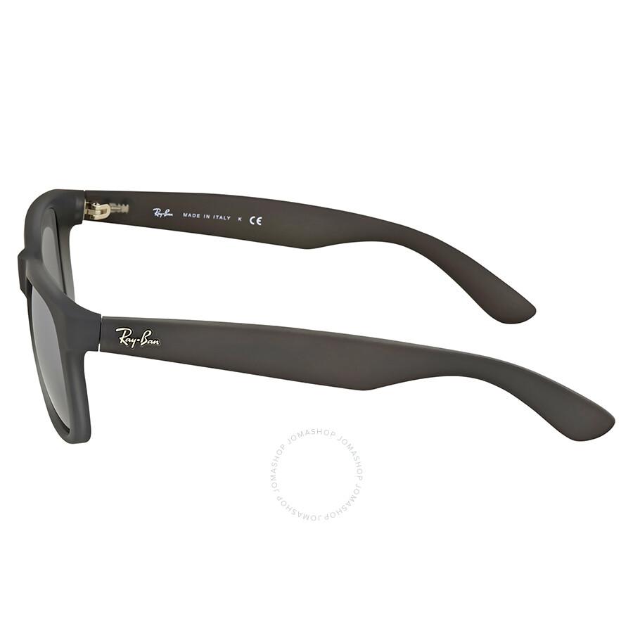 ... Ray Ban Justin Classic Silver Gradient Mirror Square Sunglasses