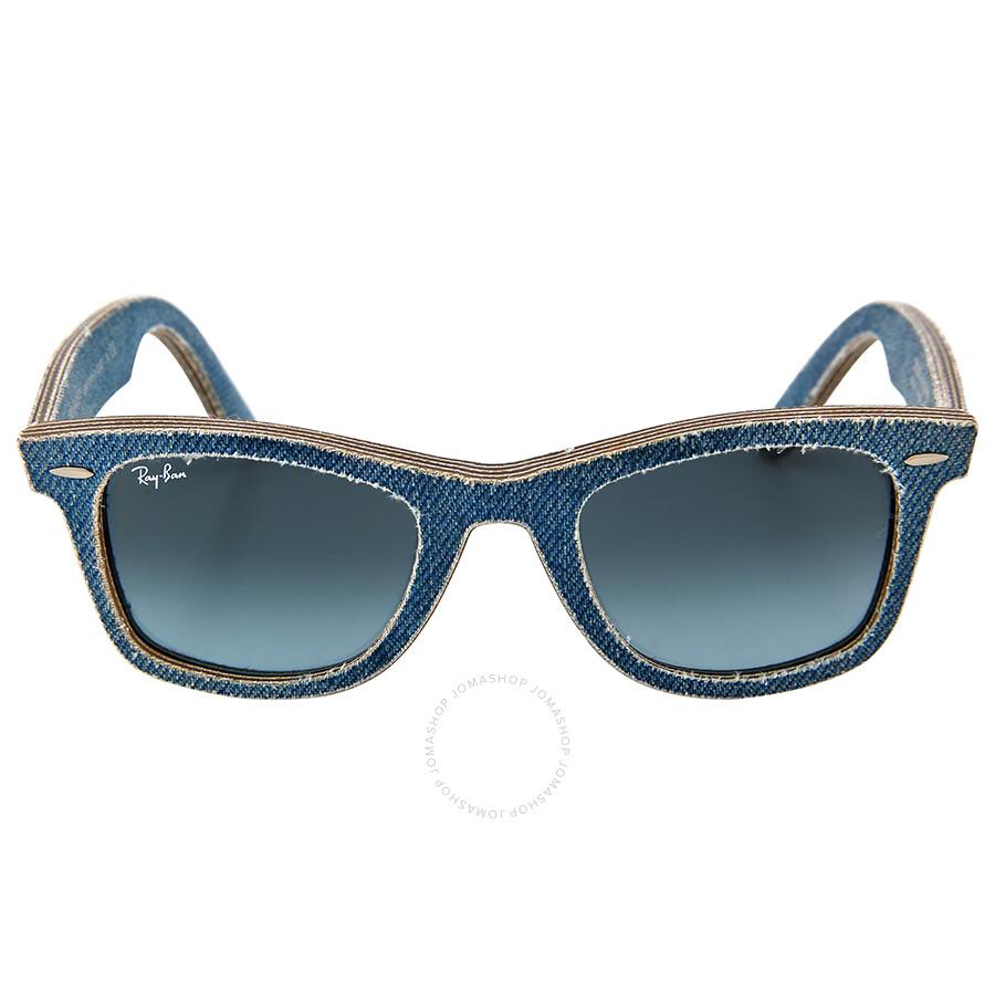 f0ce323ea5cea ... get ray ban new wayfarer blue denim gradient lens 50mm mens sunglasses  rb2140 50 11644m 331ea