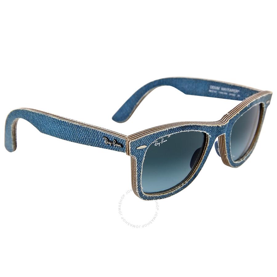 ae7e2f2ebdb00 ... get ray ban new wayfarer blue denim gradient lens 50mm mens sunglasses  rb2140 50 11644m 8c32c ...
