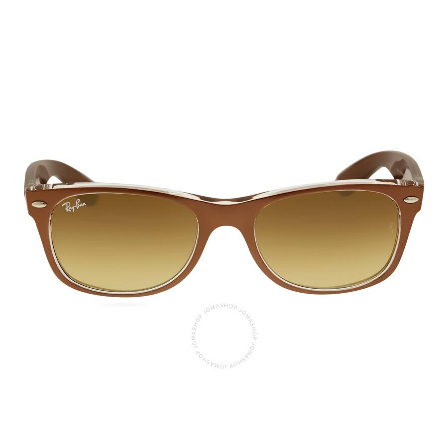 ray ban male ray ban new wayfarer brown gradient mens sunglasses rb2132 614585 52
