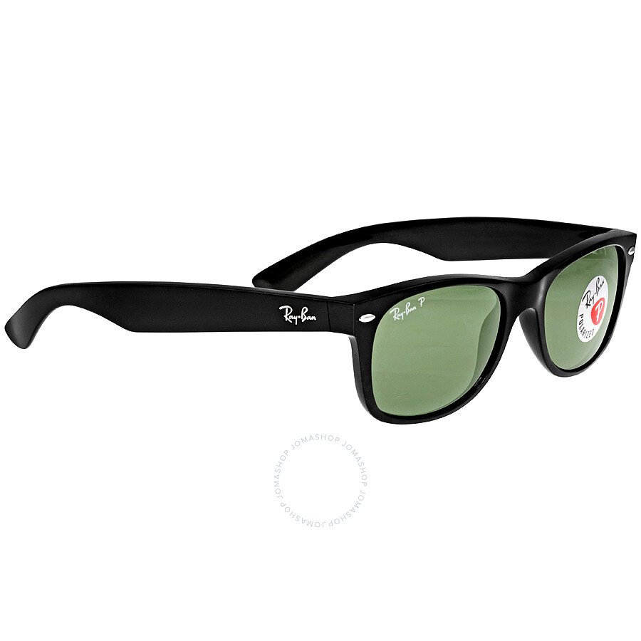80df0e87db091 new arrivals ray ban new wayfarer polarized black green 52mm sunglasses rb2132  901 58 52 97286