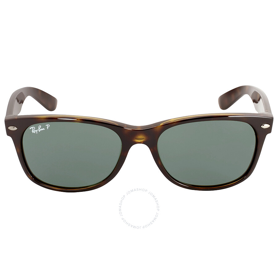 ray ban ray ban new wayfarer polarized green sunglasses rb2132 90258 5518