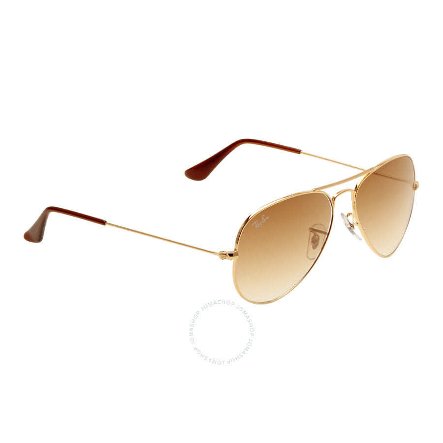 6b184ab56a ... shop ray ban original aviator light brown gradient sunglasses rb3025  001 51 55 c3fff 60e05