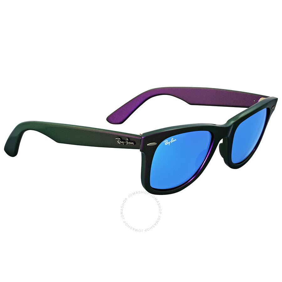 Ray Ban Original Wayfarer Cosmo Purple Plastic Frame Blue Lenses ...