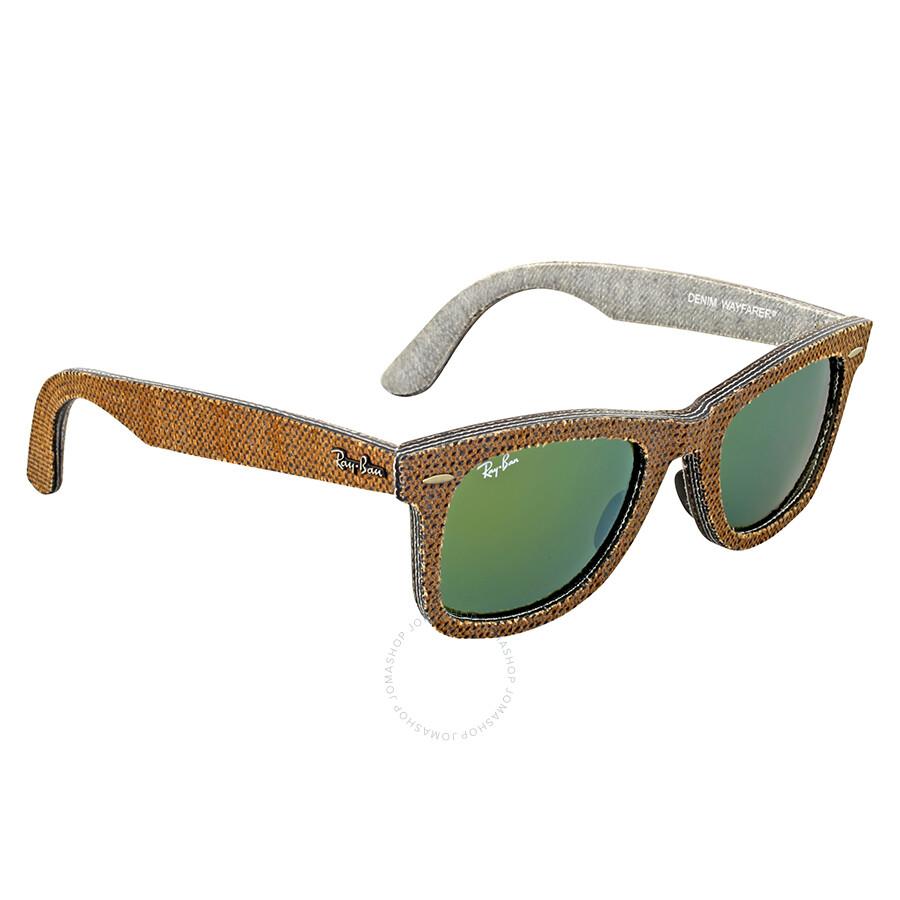 13611eadd ... discount ray ban original wayfarer denim green mirror sunglasses rb2140  11912x 50 255b9 2e5bf ...