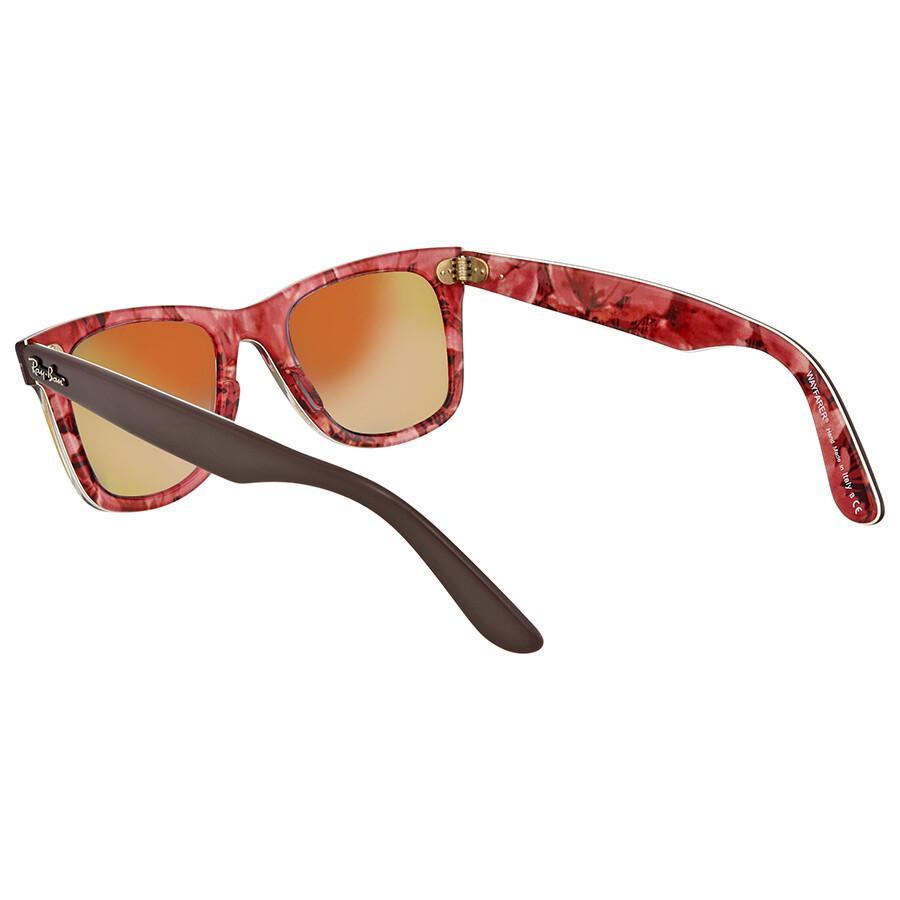 352f760b1cb ... get ray ban original wayfarer floral orange gradient flash wayfarer  sunglasses rb2140 12004w 50 b933d 502e4
