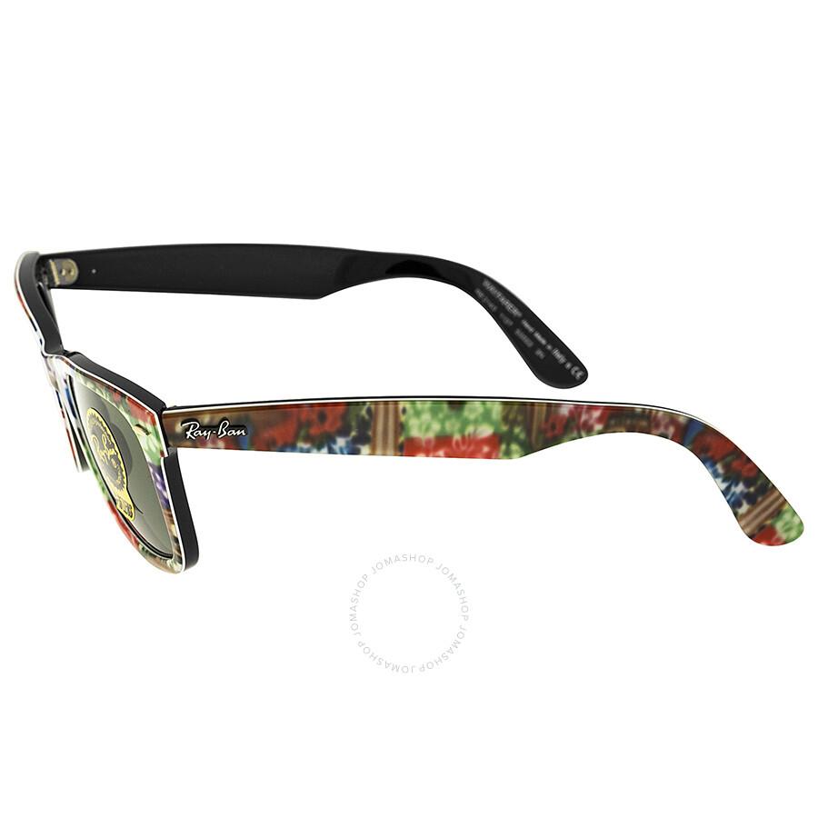 706a6f0a9 ... reduced ray ban original wayfarer multi colored plastic frame 50mm  sunglasses rb2140 50 1137 79241 d0055