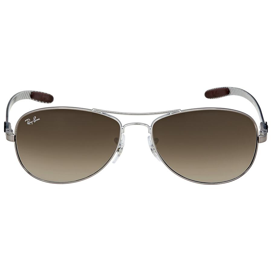 ray ban rayban pilot light brown gradient sunglasses rb8301 00451 56