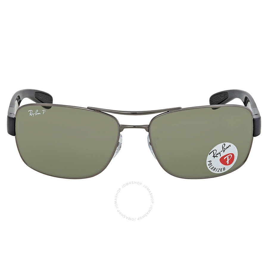 6bfc6c11a01 ... reduced ray ban polarized green classic g 15 rectangular mens sunglasses  rb3522 004 9a 61 5a7f5