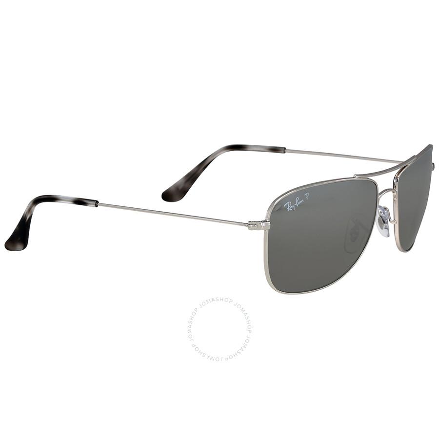 80e823a75df ... real ray ban polarized silver mirror chromance aviator sunglasses 41e5d  7c9d5
