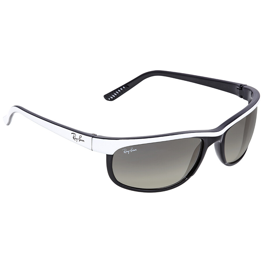 Ray Ban Predator 2 Clear Gradient Grey Rectangular Sunglasses RB2027 ...
