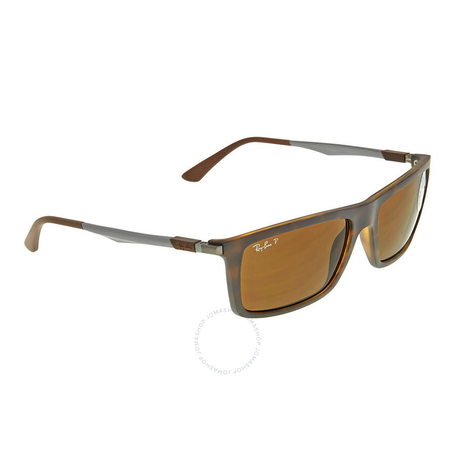 7ffefe3bff ... coupon code ray ban active rectangle polarized brown classic b 15  sunglasses rb4214 609283 59 2d796