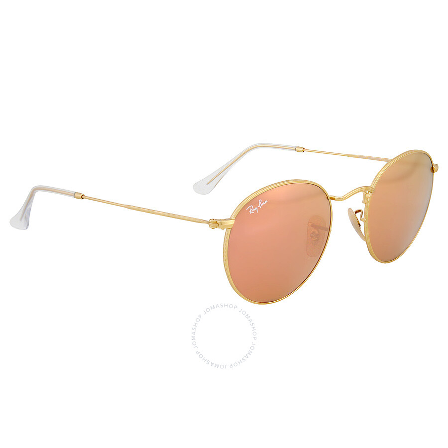 ray ban round copper flash