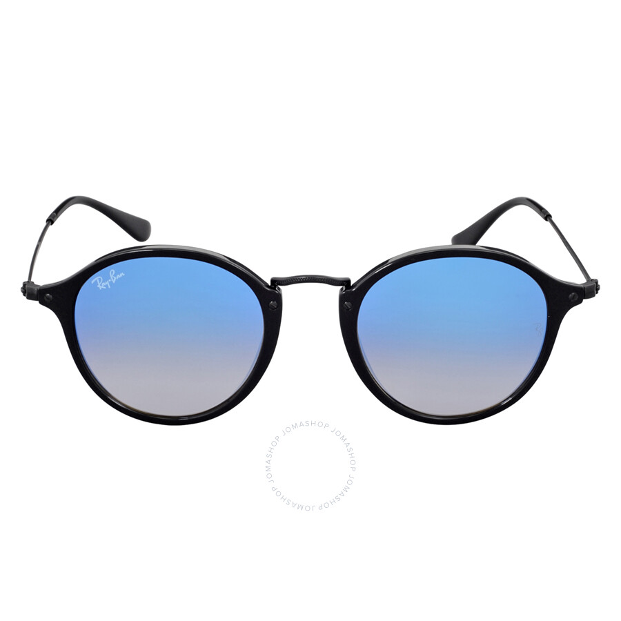 ... top quality ray ban round fleck blue gradient flash sunglasses rb2447  901 4o 49 987f5 67d91 3e55d5c79105