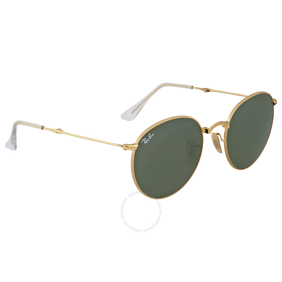 Ray-Ban Round Gold Frame Green Lens Sunglasses - Round - Ray-Ban ...