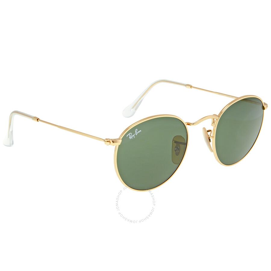 4e3d08ea30 ... new zealand ray ban round metal crystal green sunglasses rb3447 001 47  0997e e375b
