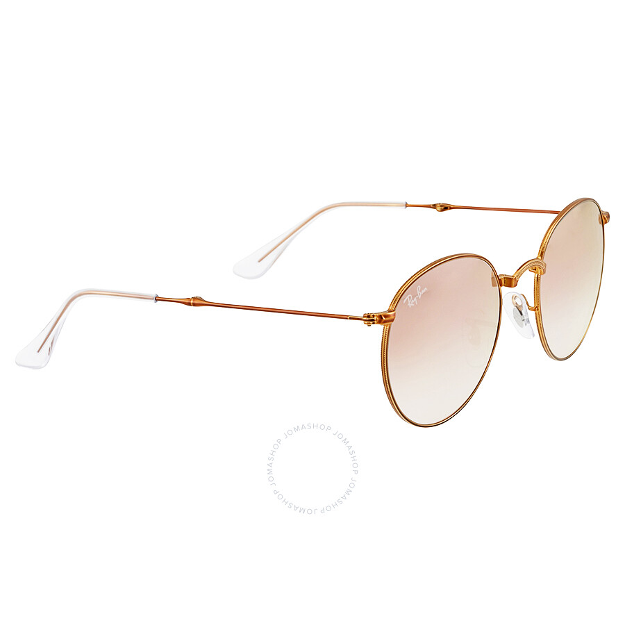 Ray Ban Round Metal Folding Copper Gradient Flash Sunglasses RB3532 ...