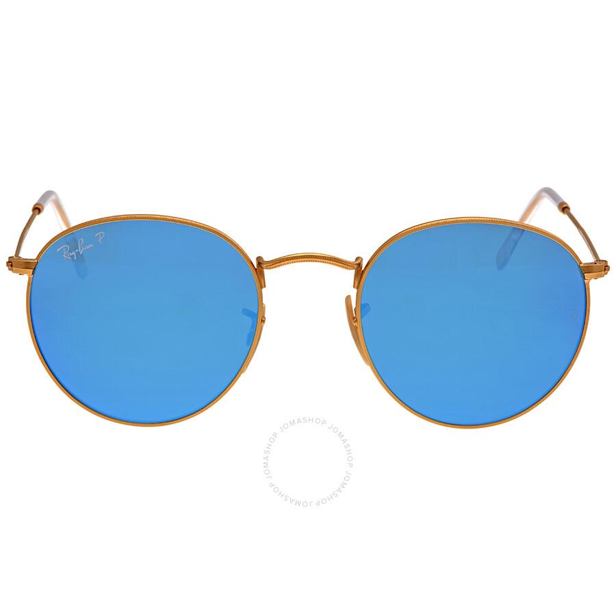 245a89e7a9 ... spain ray ban round polarized blue flash sunglasses rb3447 112 4l 50  7a25d 27cf3