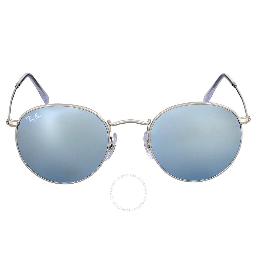 ray ban round sunglasses silver