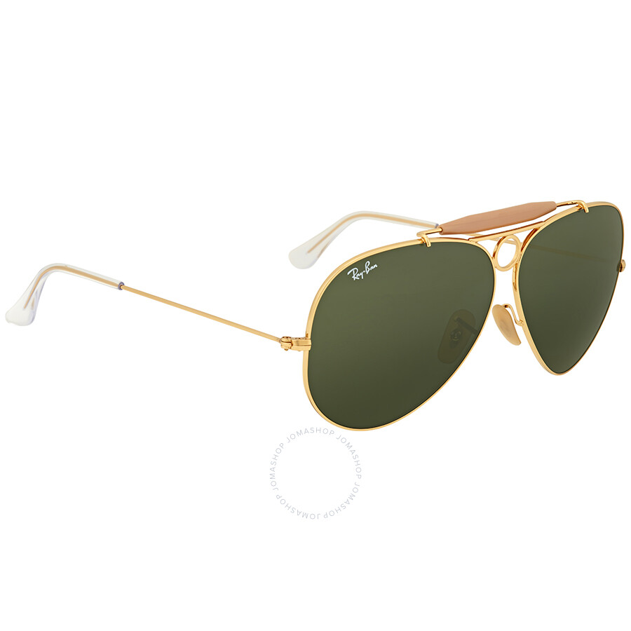96b437bcd38 ... sweden ray ban shooter green classic g 15 mens sunglasses rb3138 001 62  3646a 31ece