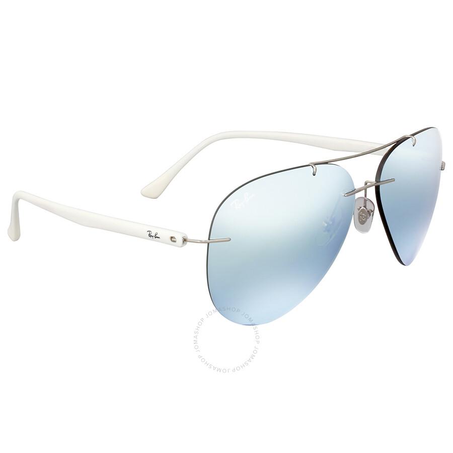 Ray Ban Titanium Mirror Aviator Sunglasses - Aviator - Ray-Ban ...