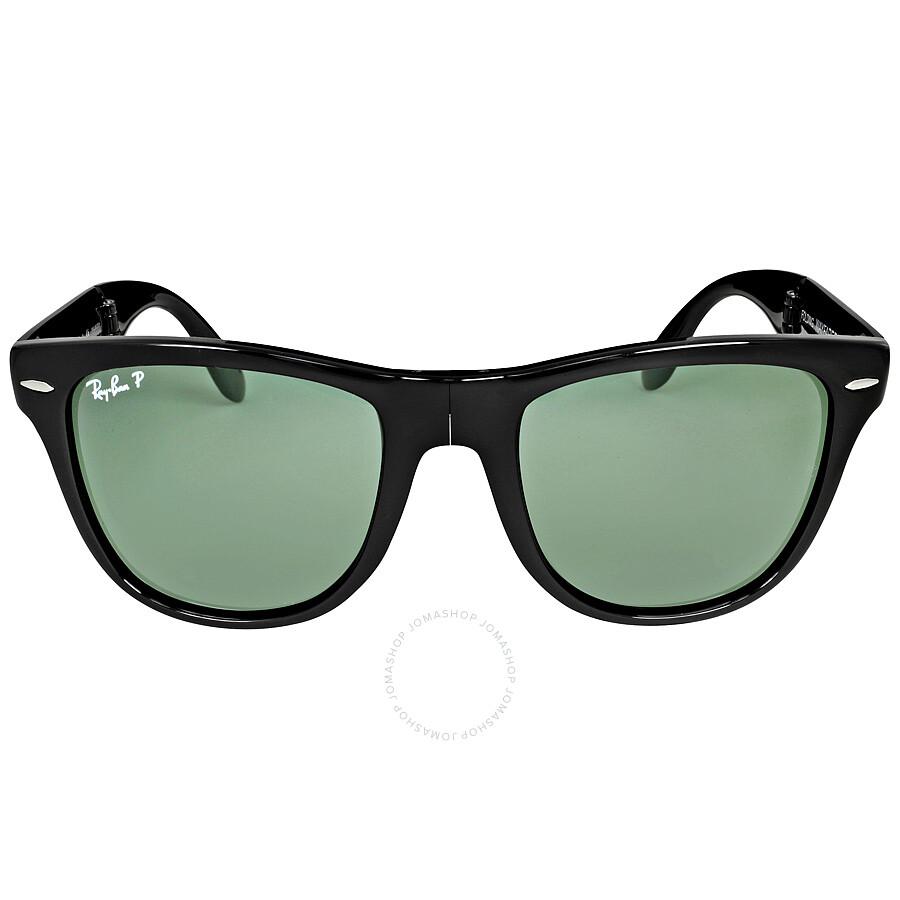 Ray-Ban Wayfarer Black Frame Folding Sunglasses RB4105 601/58 54-22 ...