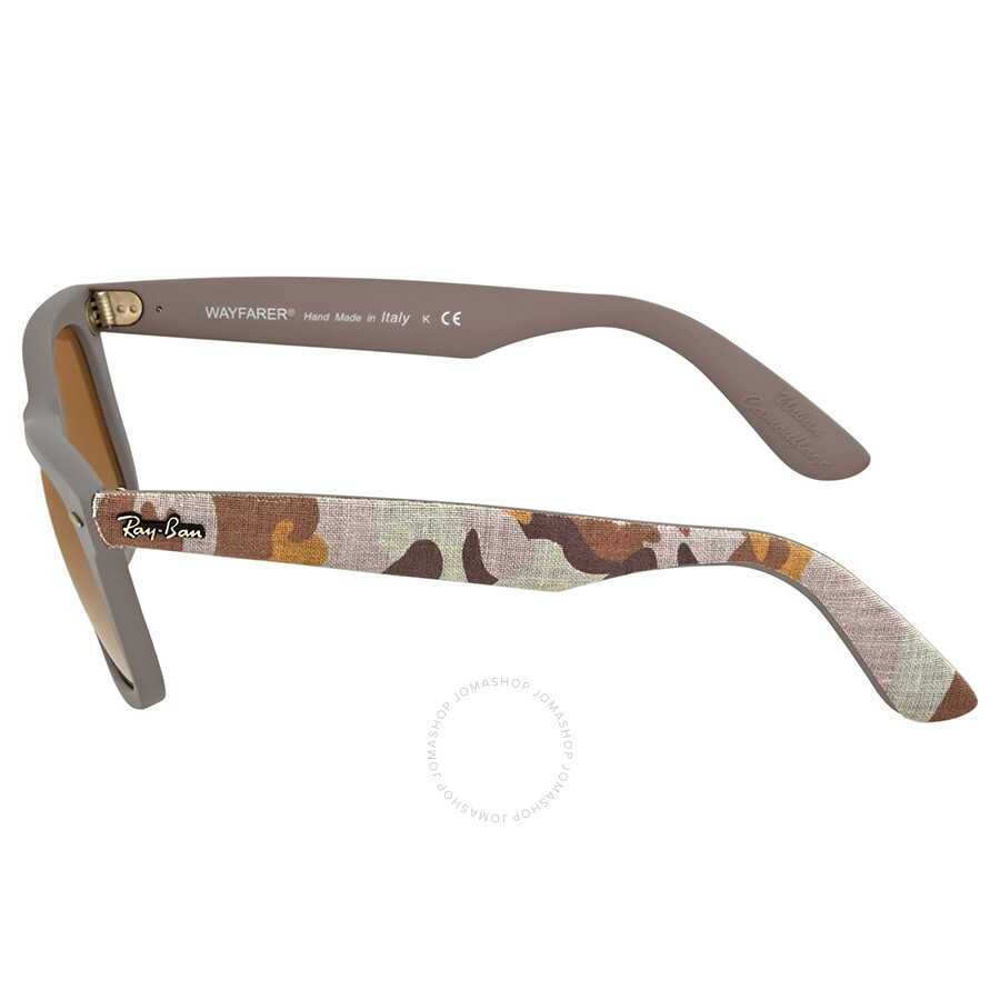 3e9e7f84ee8 ... coupon code for ray ban wayfarer classic urban camouflage brown  gradient lens 50mm sunglasses rb2140 50