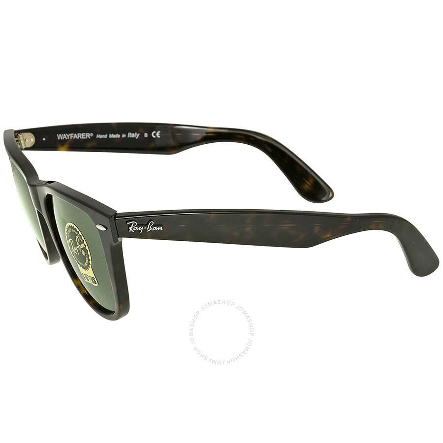 Ray Ban Wayfarer Dark Green G-15 Sunglasses RB2140 902 54-15 ...