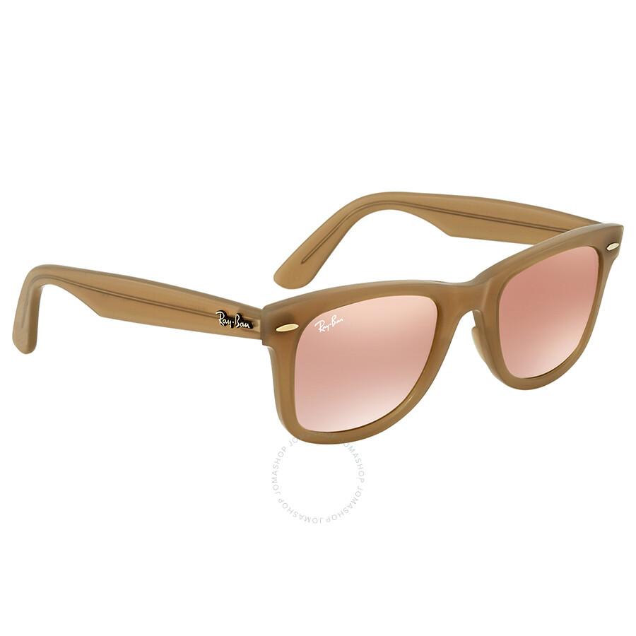 6878024f936 ... promo code ray ban wayfarer ease copper gradient flash wayfarer  sunglasses rb4340 61667y 50 3b906 ad268