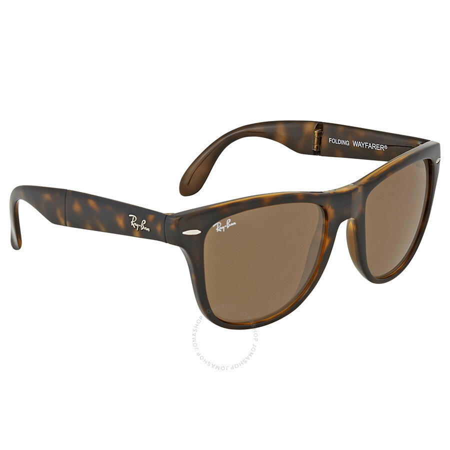 9608e94790d ... sweden ray ban wayfarer folding classic brown sunglasses b0f38 7f578