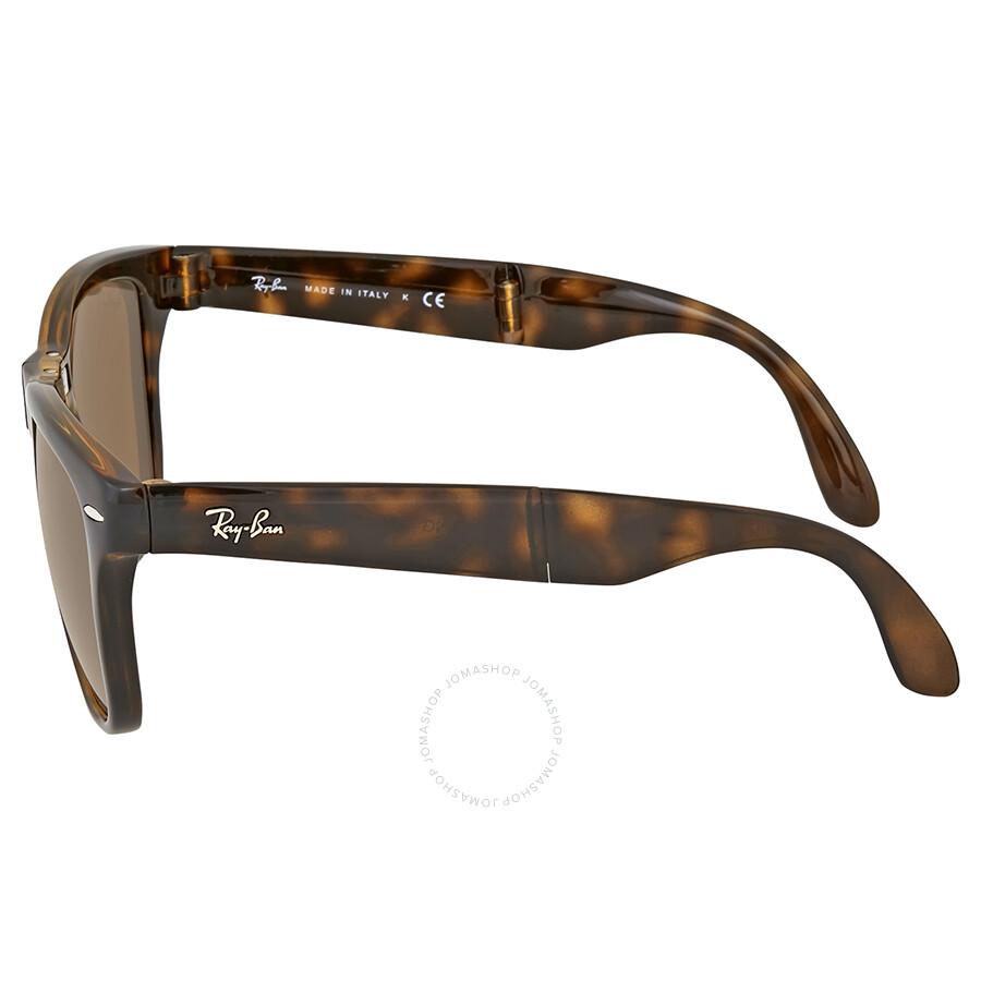 e39537c69461c ... sweden ray ban wayfarer folding classic brown sunglasses b0f38 7f578