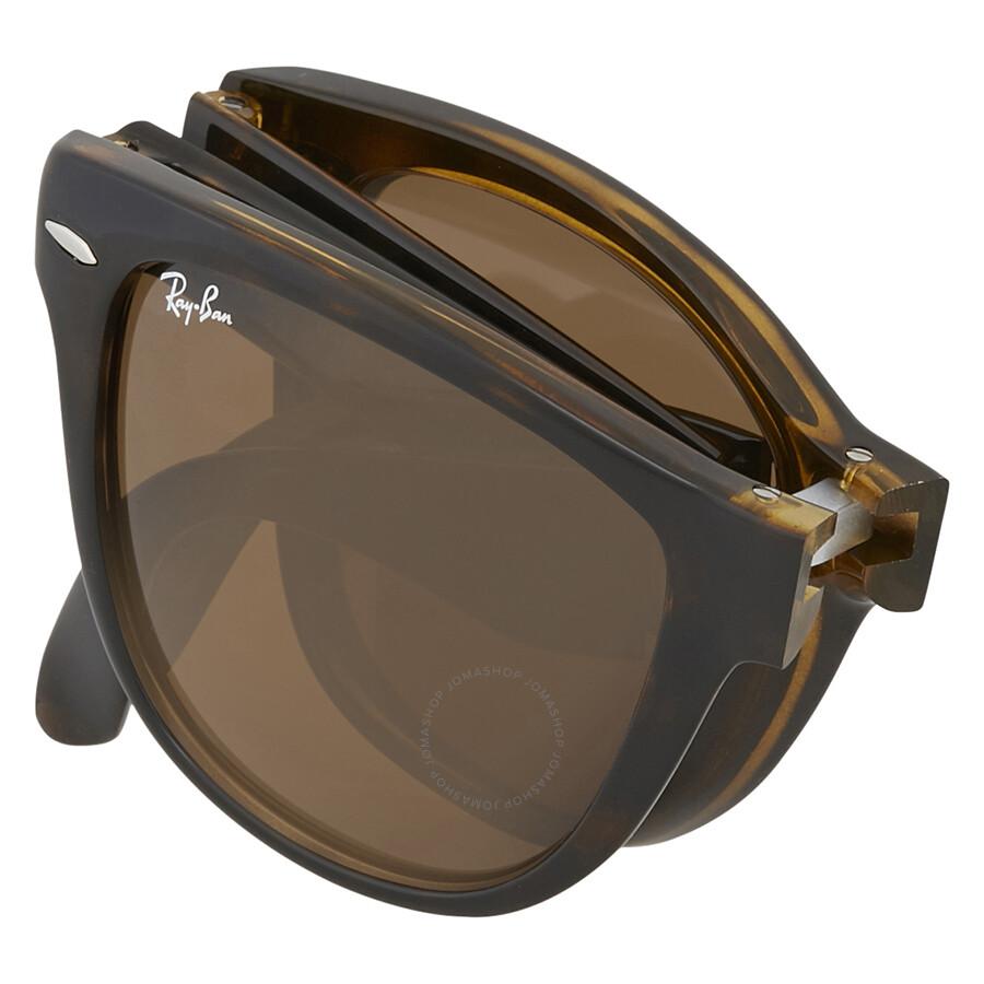 c56eb2af8b sweden ray ban wayfarer folding classic brown sunglasses 26797 4f2d4