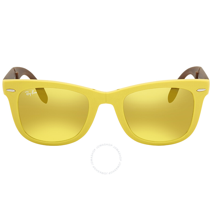 b384375a1d ... best price ray ban wayfarer folding yellow flash wayfarer sunglasses  rb4105 605193 50 93381 b8238