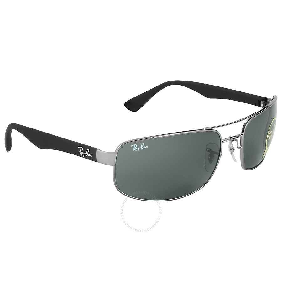 Ray-Ban RB 3445 004 61 gunmetal/green M sKtkri